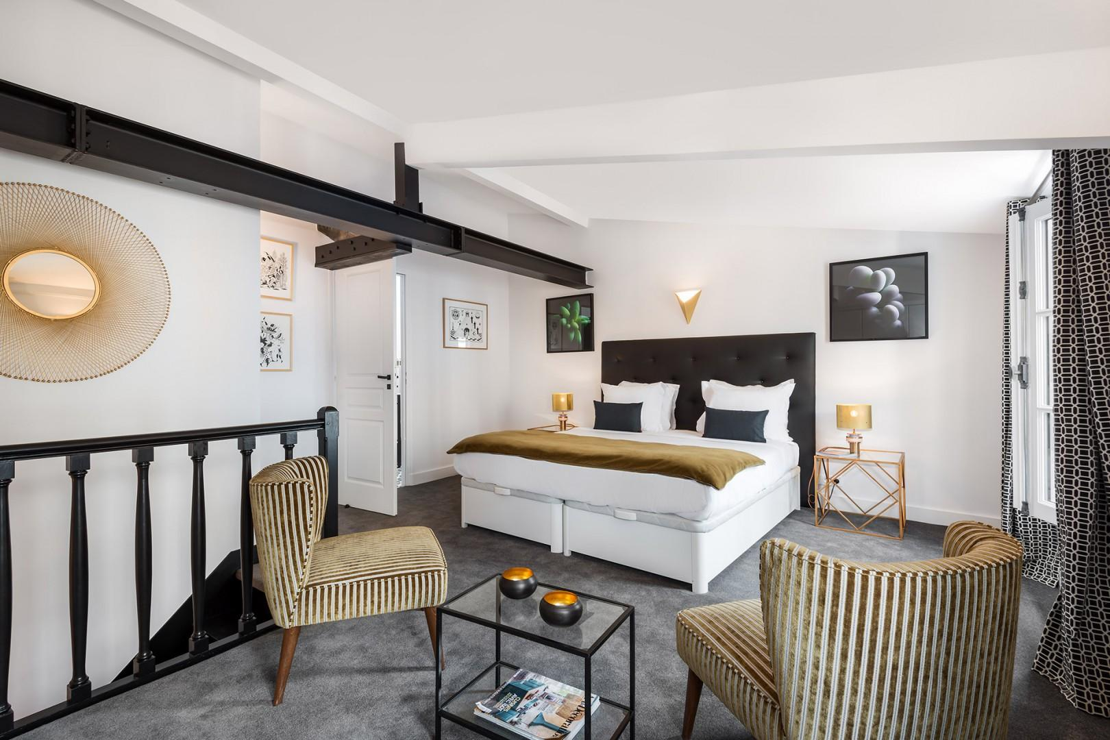 Bedroom 3 is decorated to evoke luxury, but also homeliness.