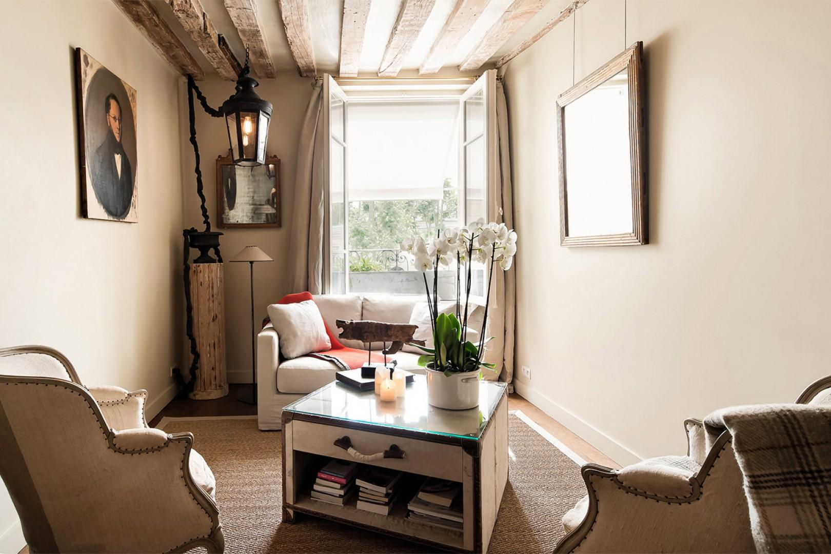 Relax with a book in the cozy seating area.