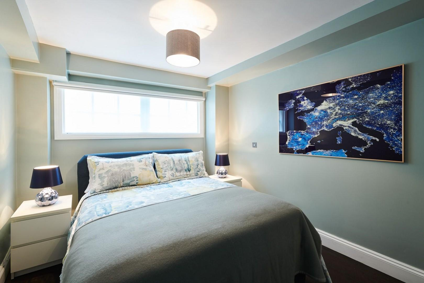 Soothing tones in the second bedroom