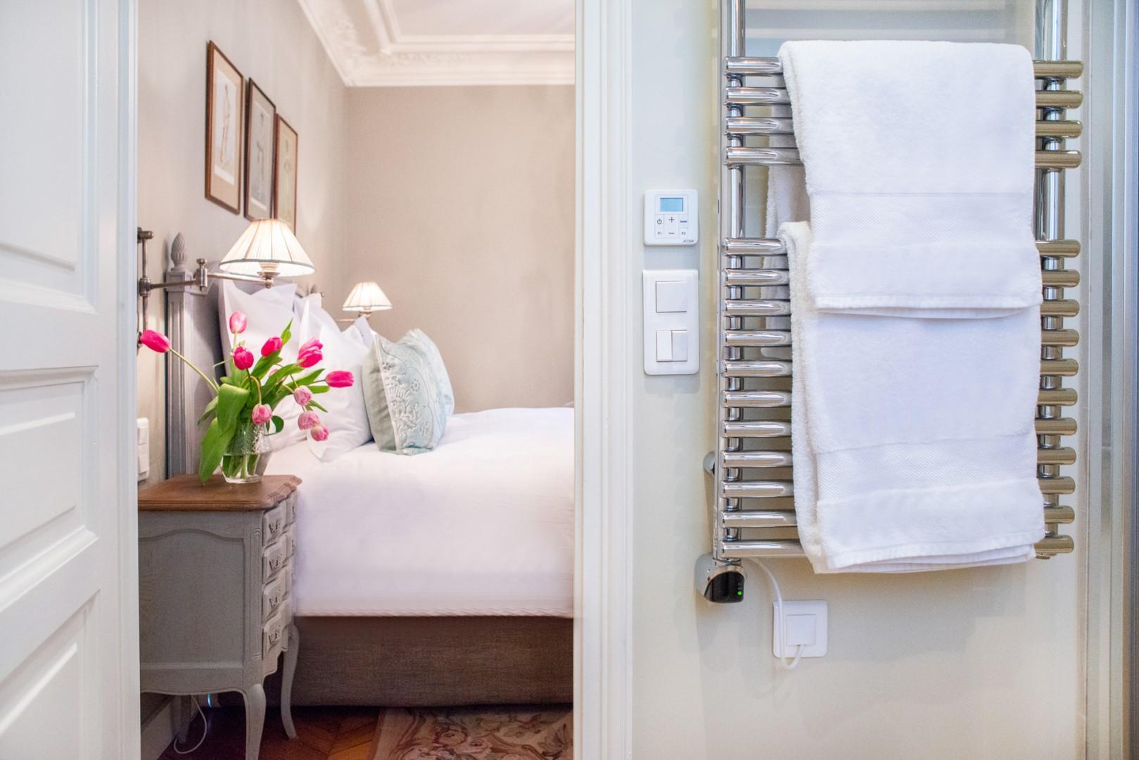 Bedroom 1 comes with a private, en suite bathroom.