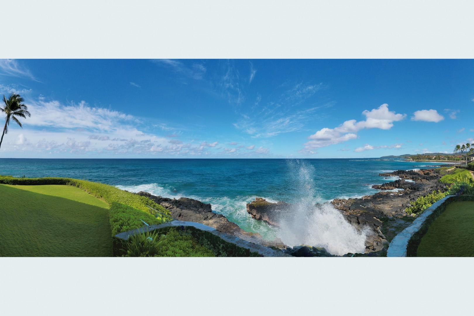 Ocean view from Lanai