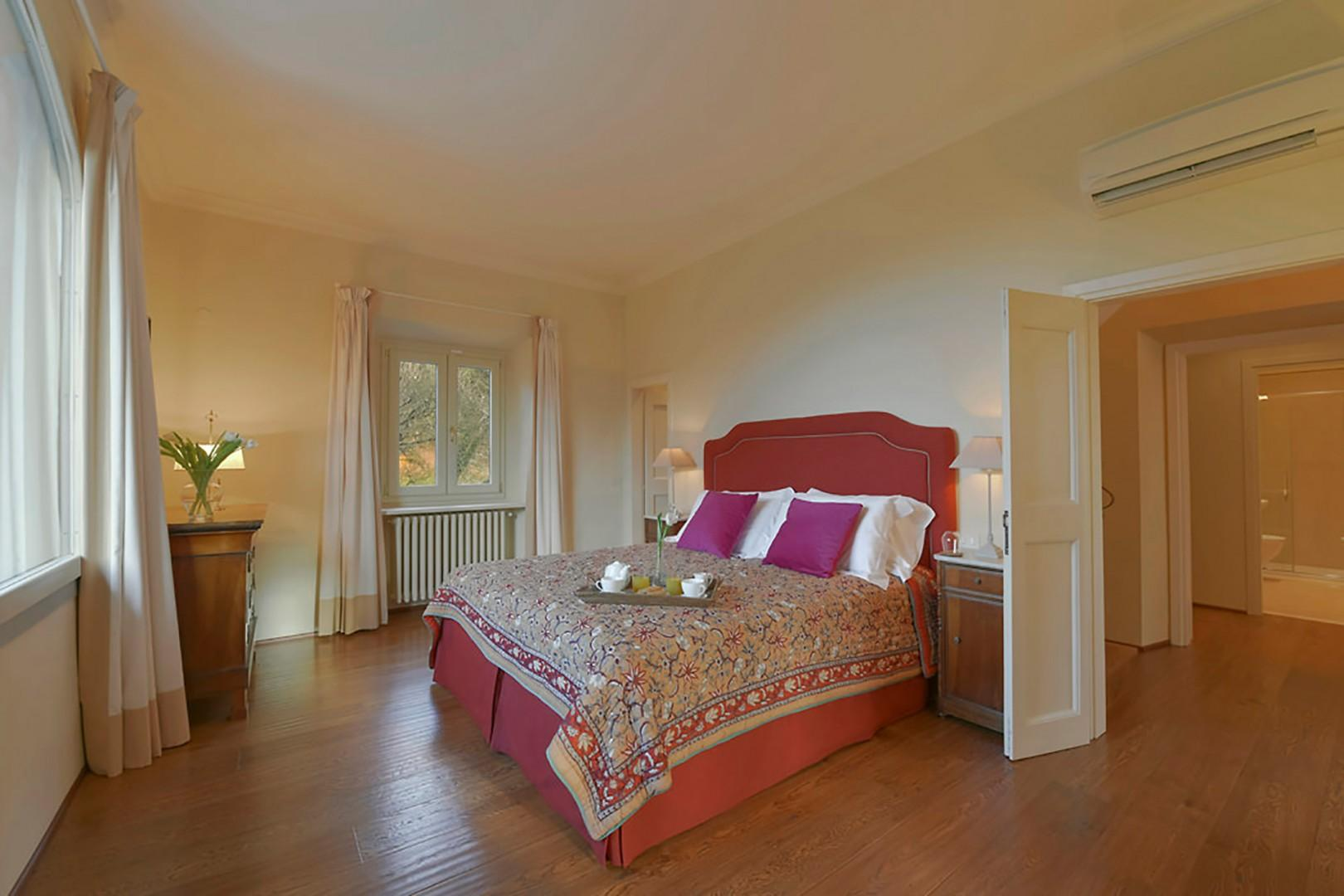 Each bedroom at Villa Felice has beds that can be prepared apart as two beds.