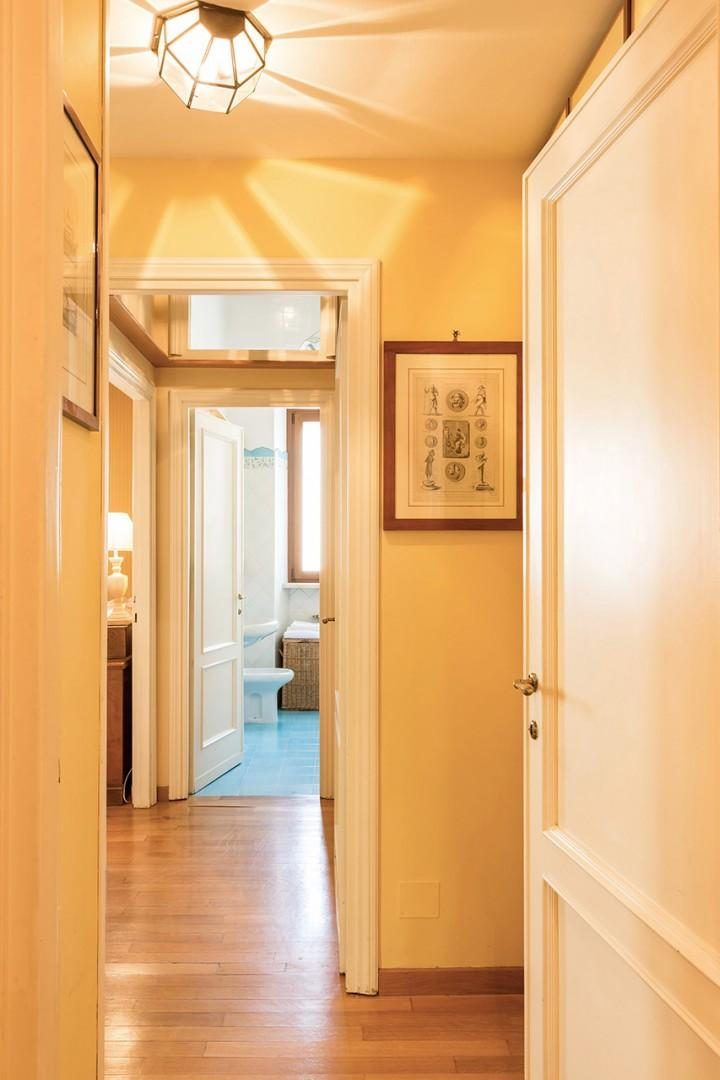 Three closets are in the entry hall to bedroom 1.