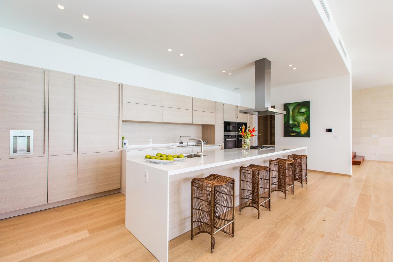 Open Kitchen with 2 walk in pantry closets