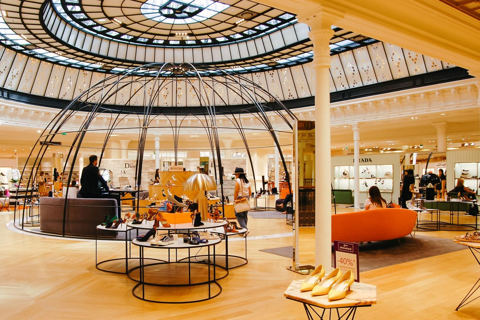 Shop with style in the stunning Le Bon Marché.
