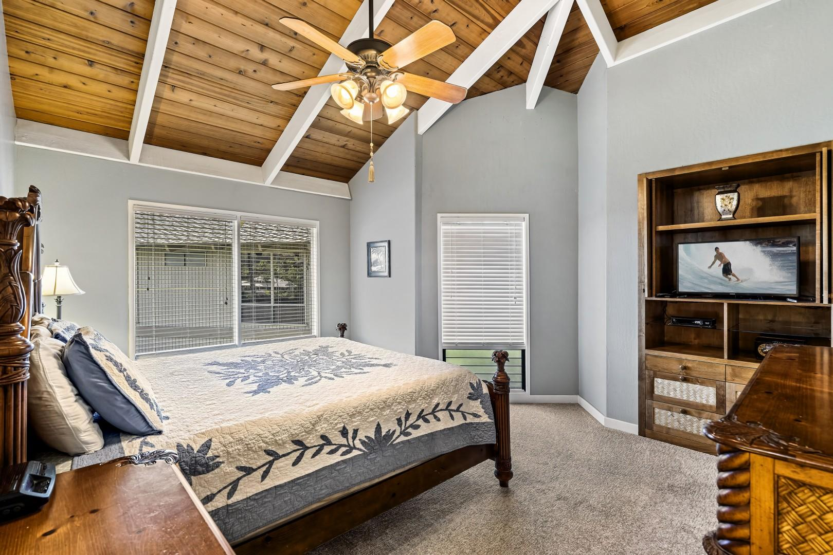 Vaulted ceiling can be found in the Master bedroom as well!