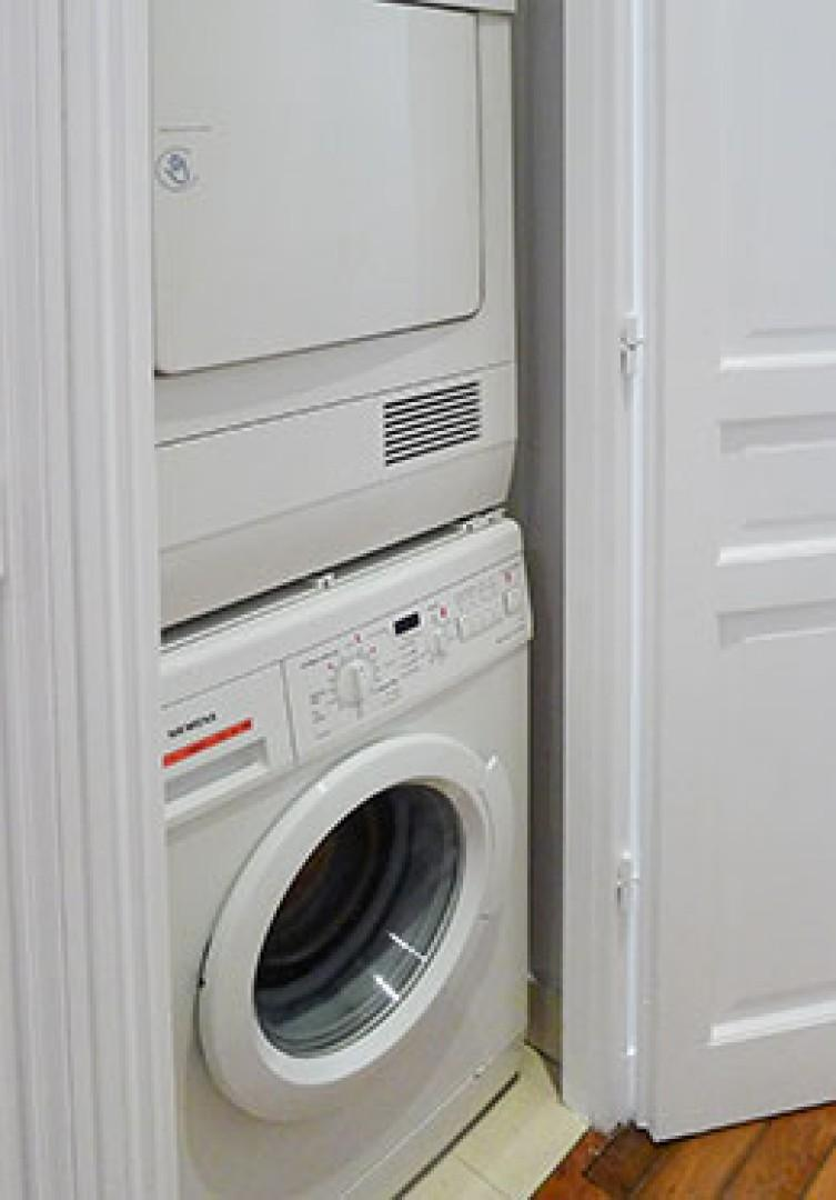 There is a separate washer and dryer for your convenience, located in the hallway.