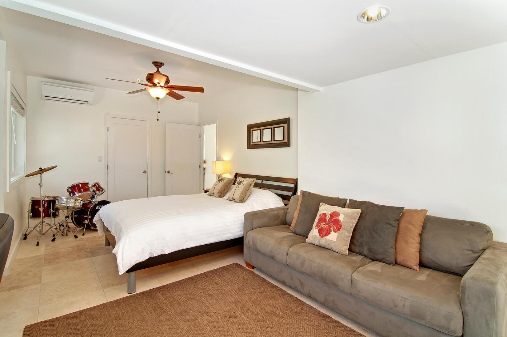 Bedroom Five - Sleeps Four. Queen bed, Sofa bed has been replaced with a twin day/trundle bed (queen), with its own lanai