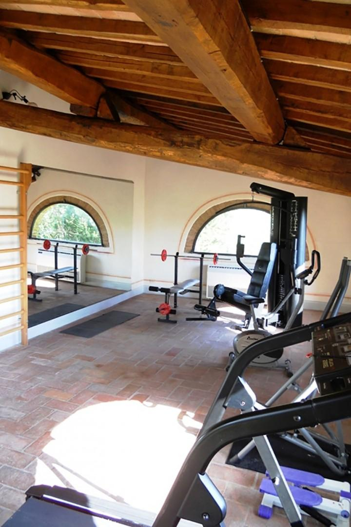 A private gym on the grounds to help you work off the pasta and gelato!