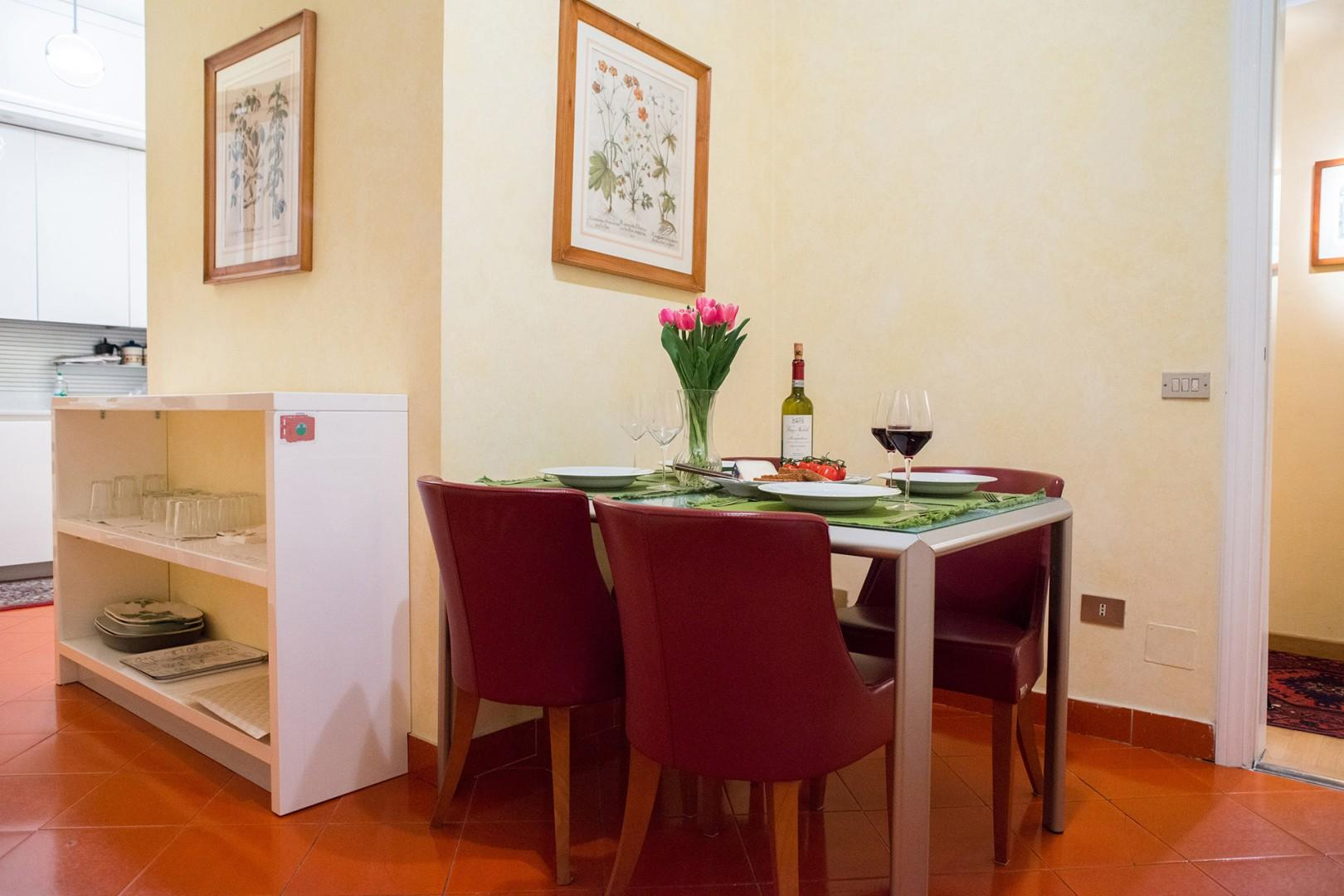 As you enter the kitchen you find a table with seating for four. Really great for casual dining.