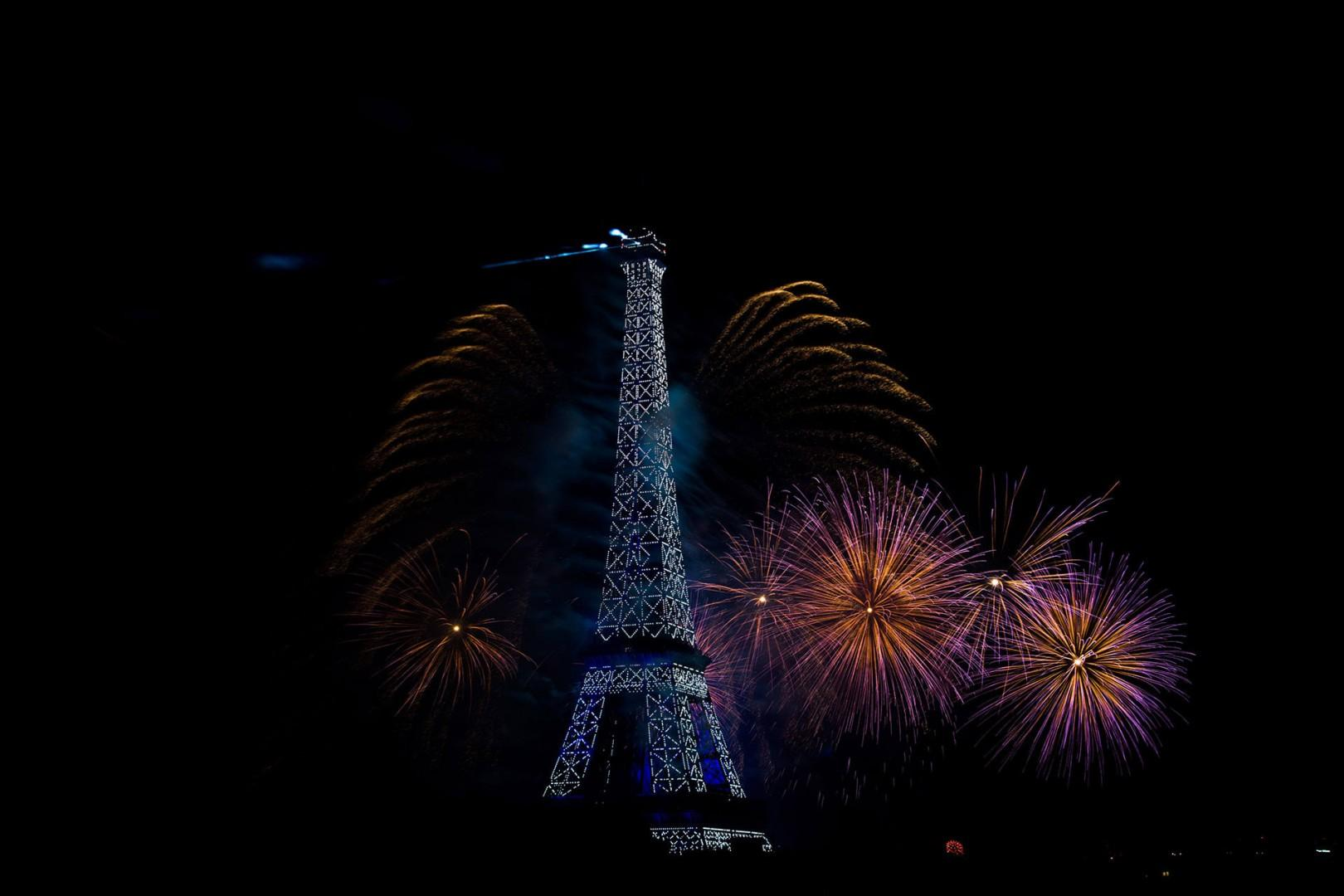 World class view of the Bastille day fireworks!