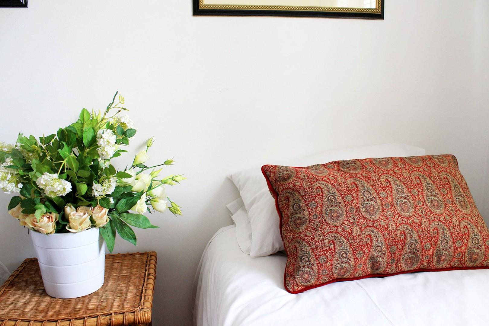 Lovely patterned cushions in the second bedroom