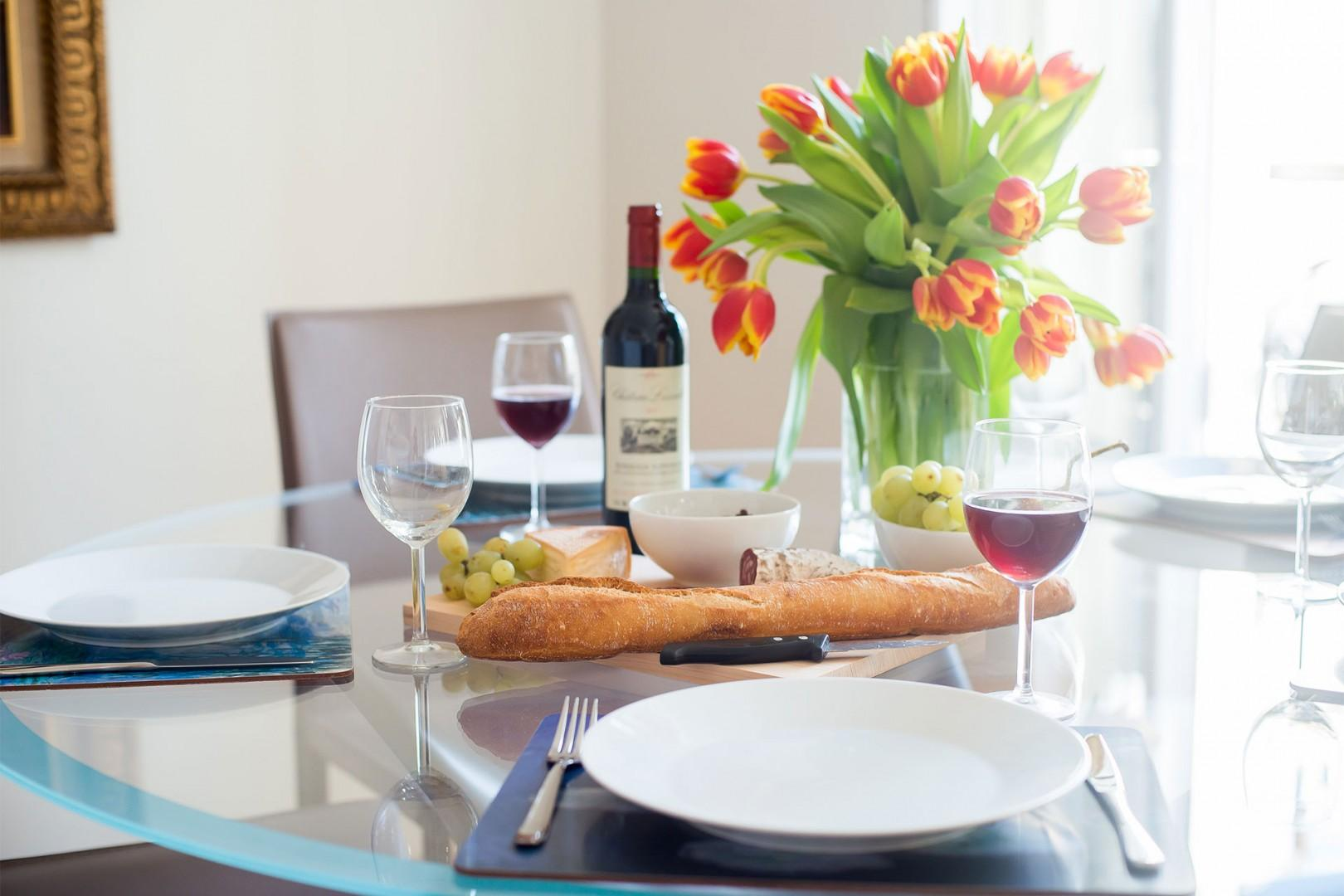 Enjoy a classic French meal made with local produce.