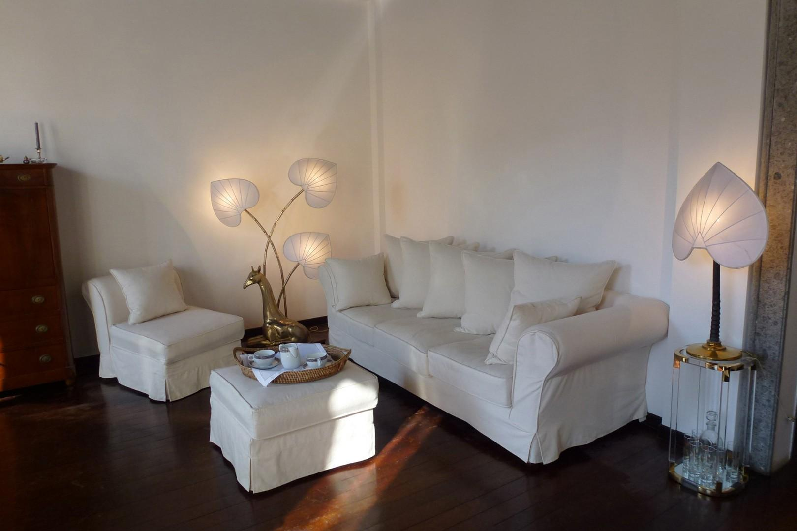 Comfortable seating in the living room invites you to spend time relaxing