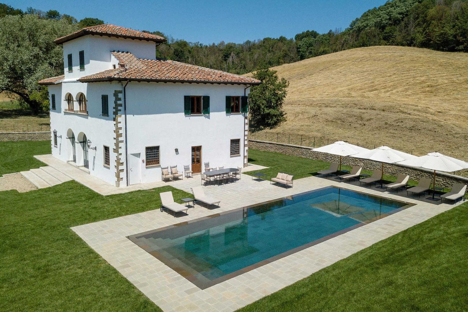 Take a dip in the Maragone villa's refreshing pool.