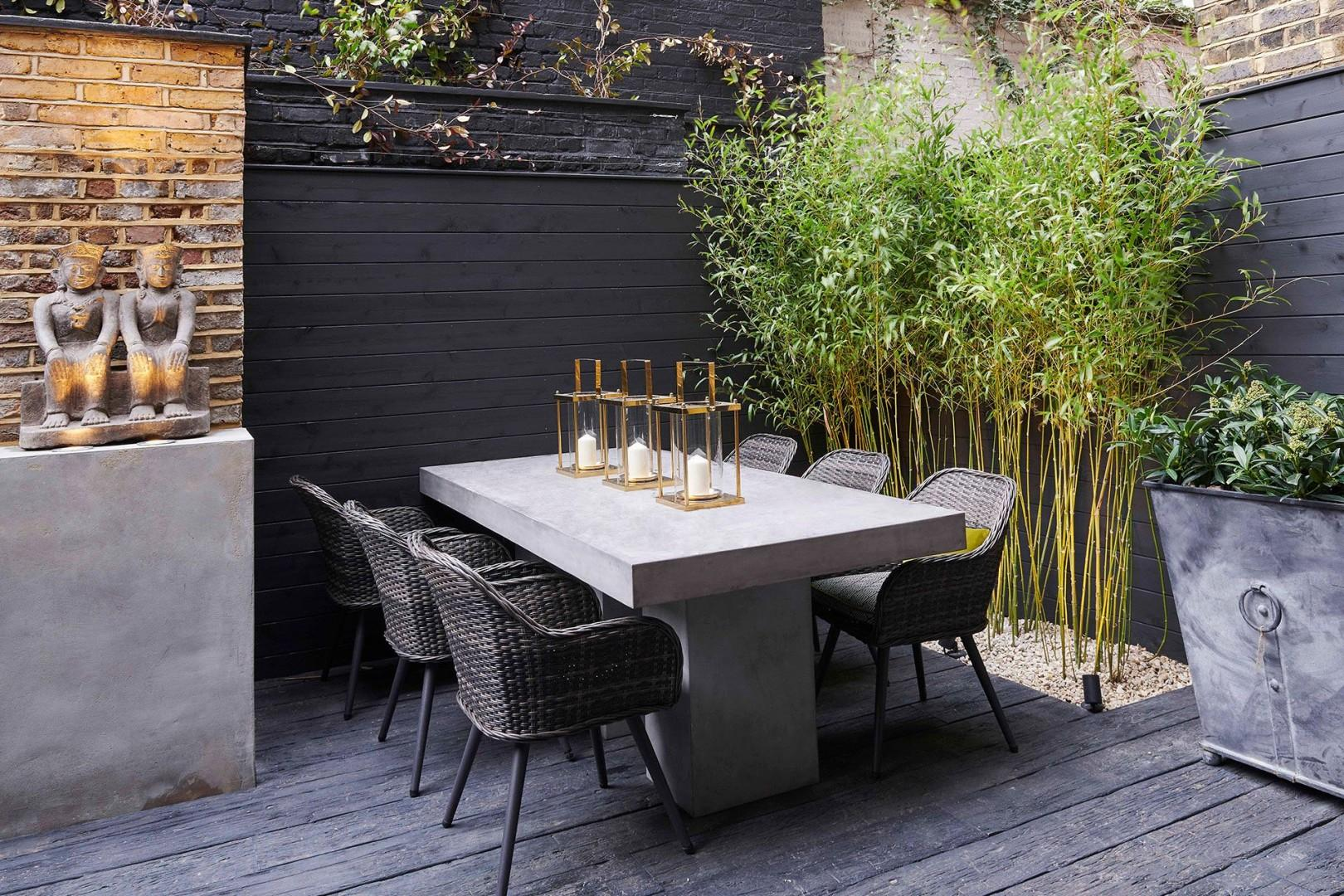 In the summer, enjoy warm London evenings at the patio table