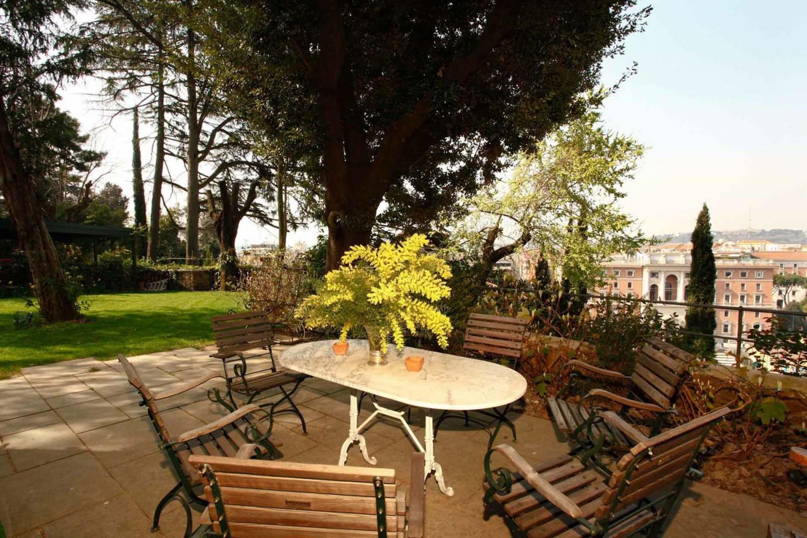 You can enjoy the terrace and views from this private garden terrace.