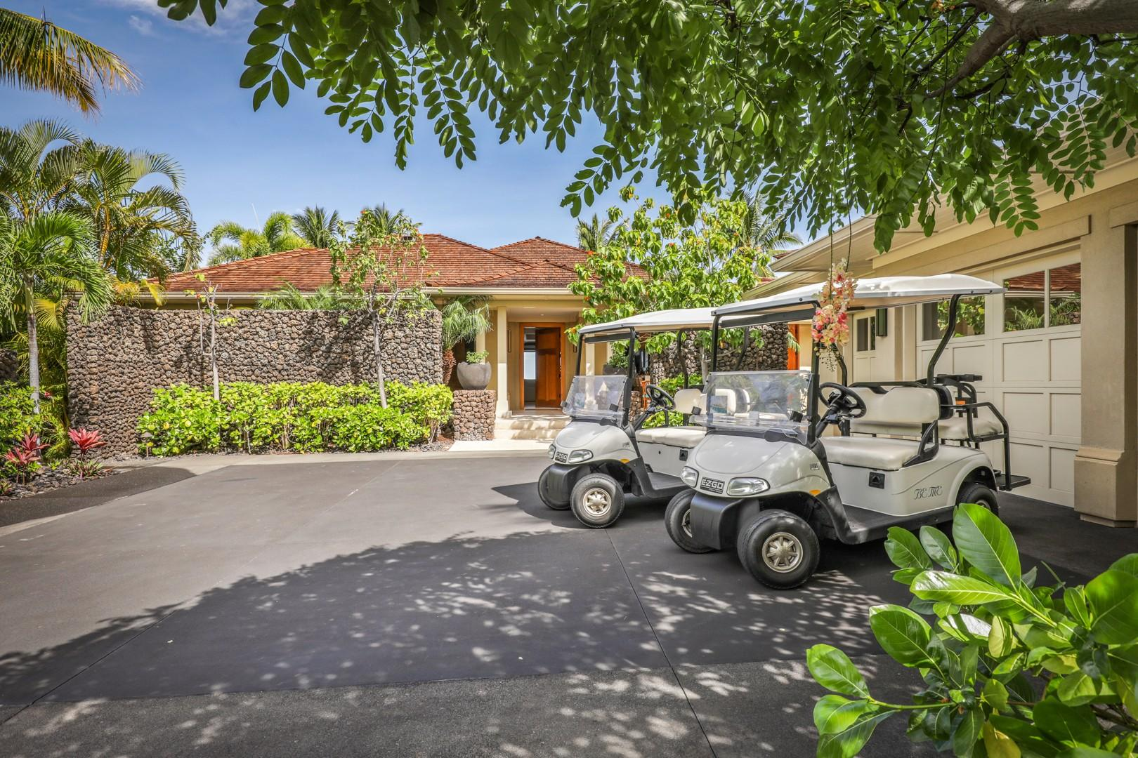 Use of two 4-Seater golf carts is included with your rental.