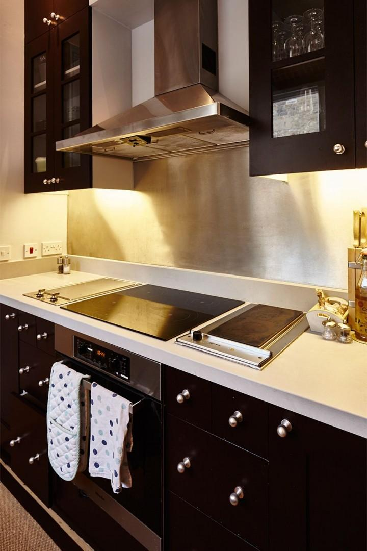 Modern appliances in the kitchen