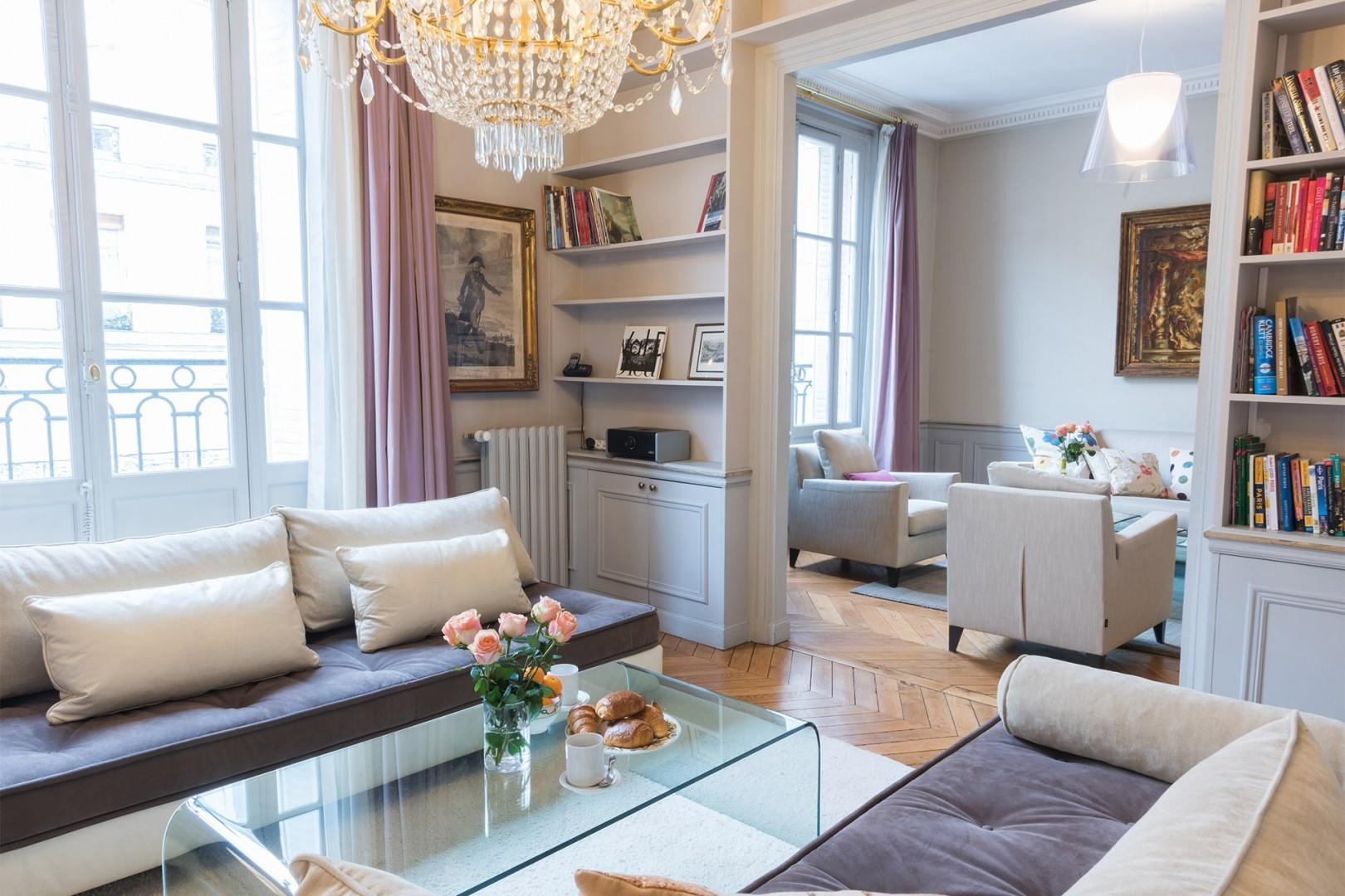 Make yourself at home in this elegant and spacious apartment.