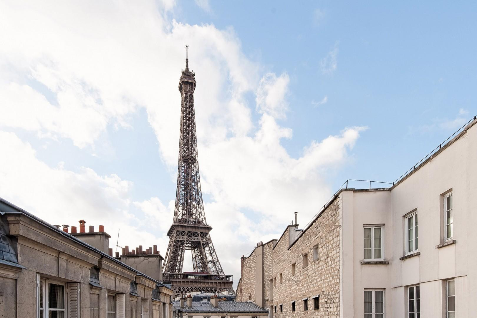 The Eiffel Tower is just minutes away!