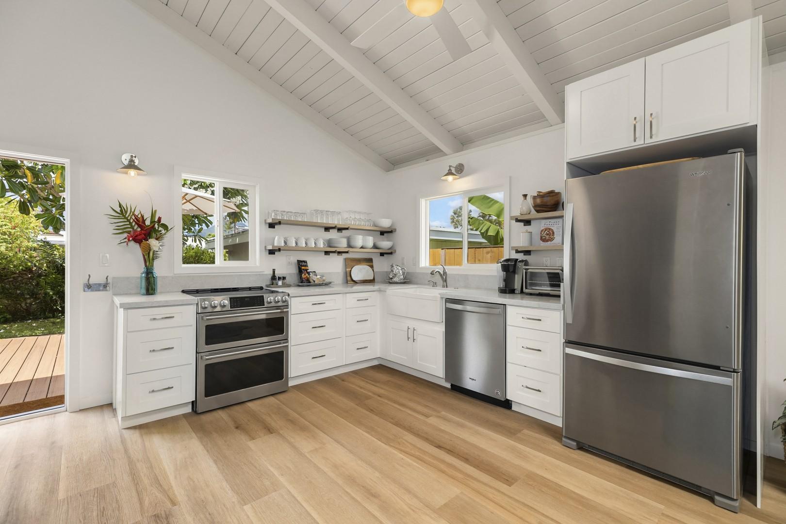 Modern kitchen with updated appliances