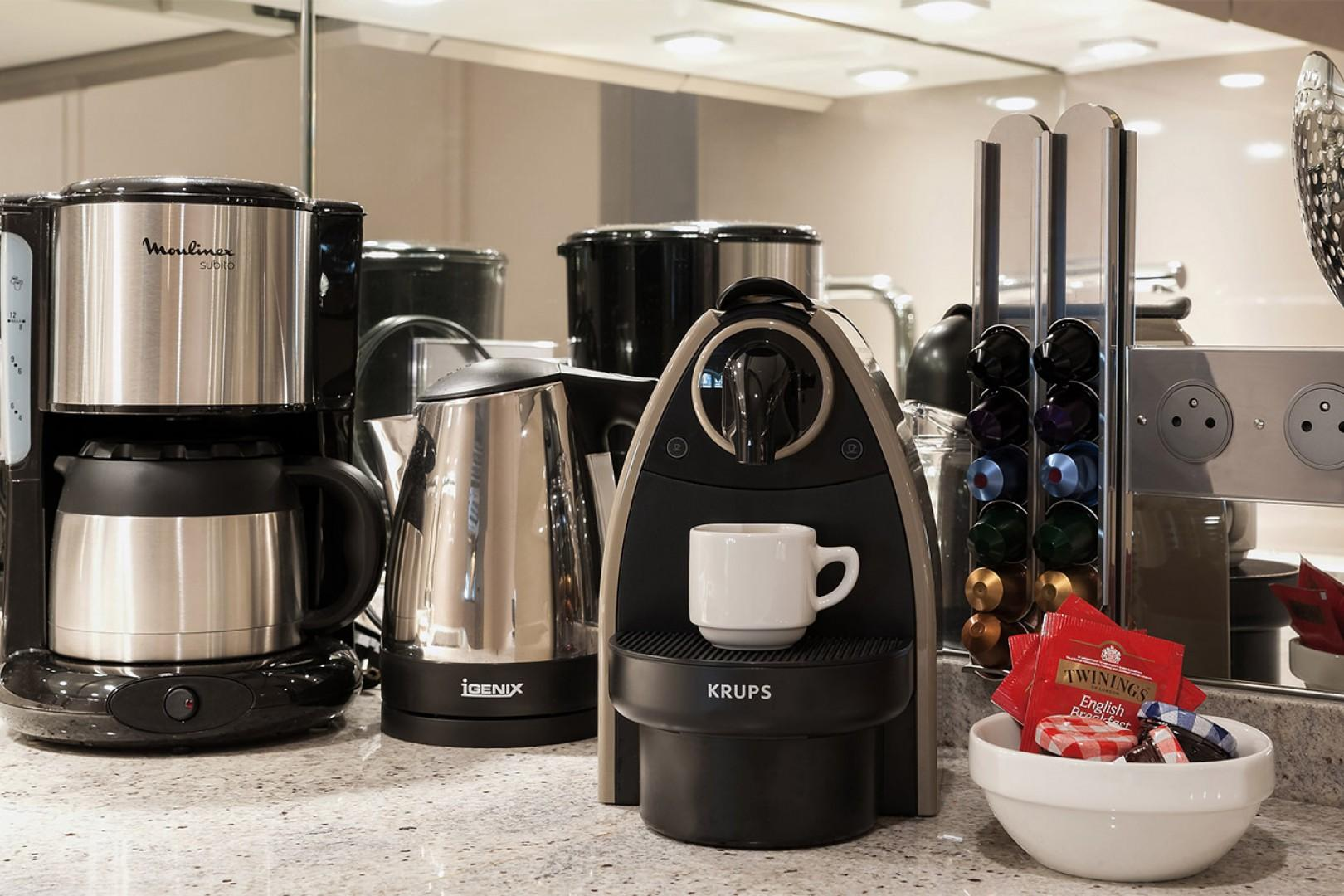 Wake up to freshly brewed coffee at home!