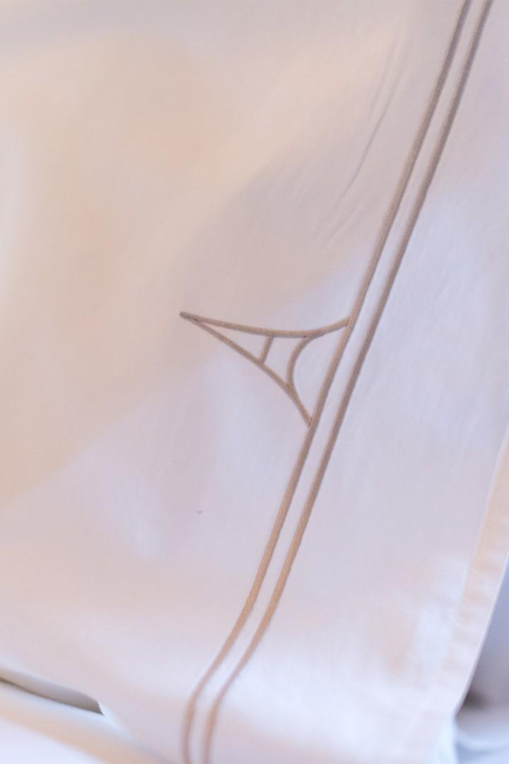 Custom Paris Perfect linens await your stay!