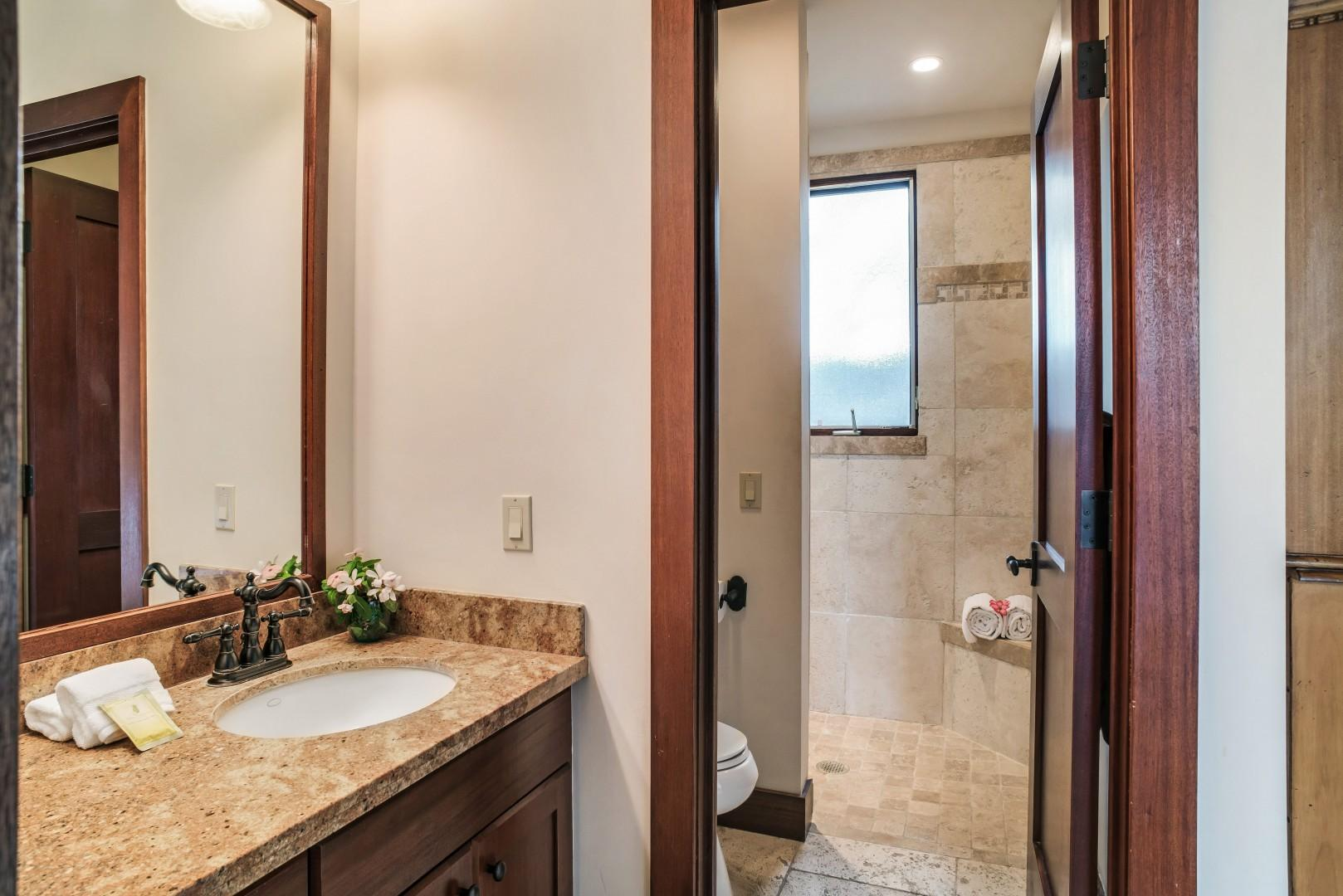 Guest Suite 4 Bath w/ Travertine Shower