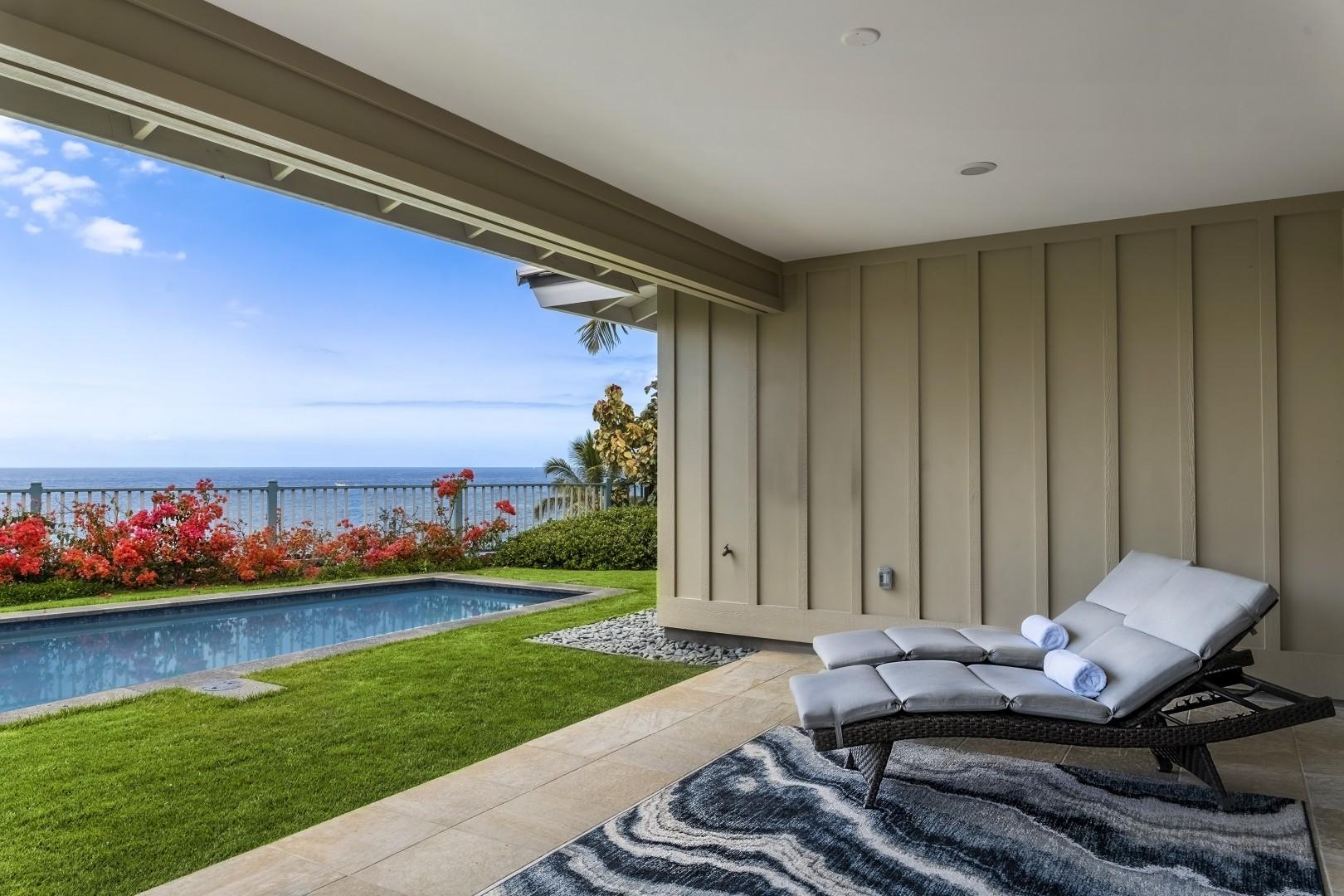 Lounge pool side on the Lanai!