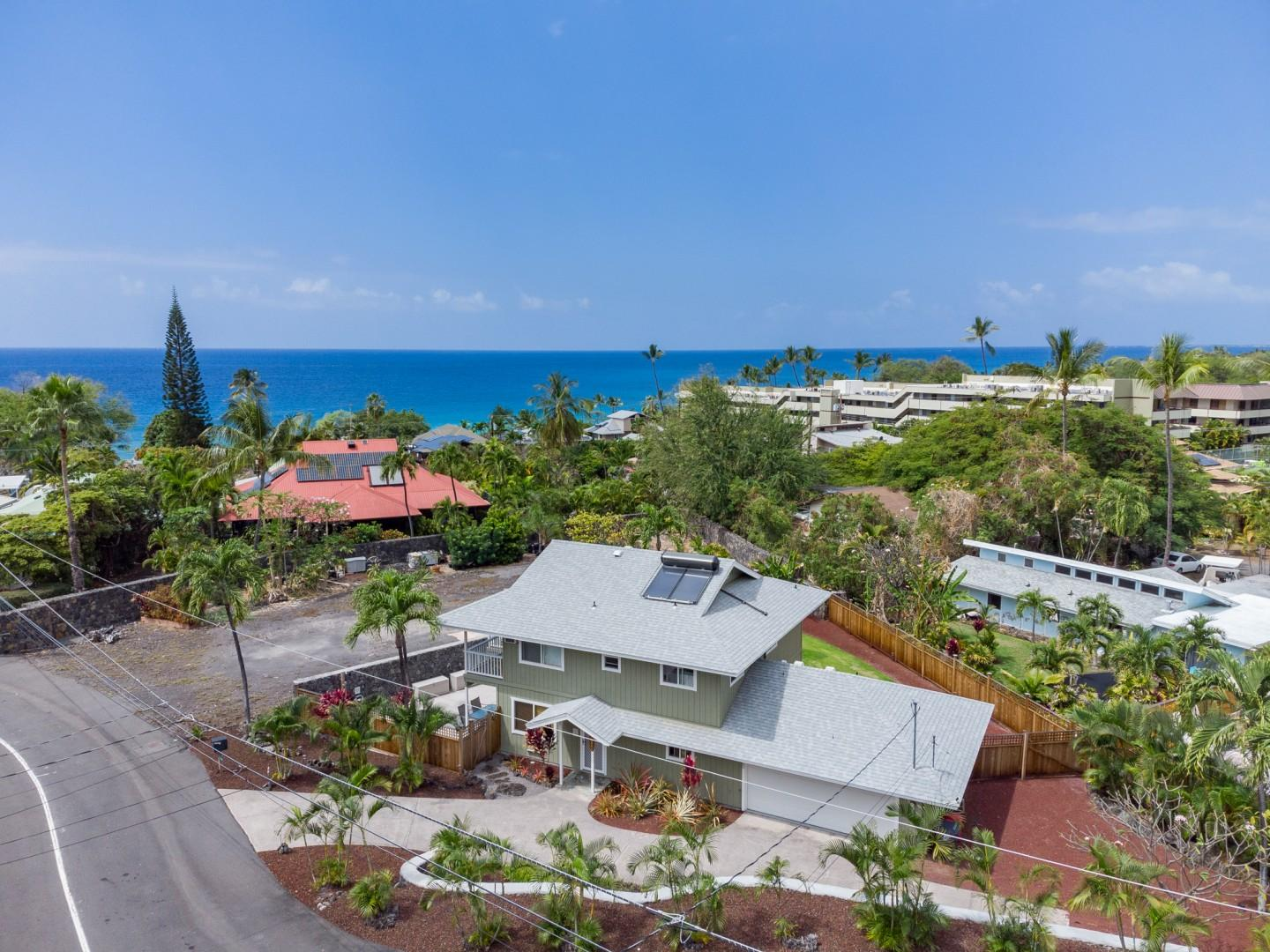 Aerial views from the house