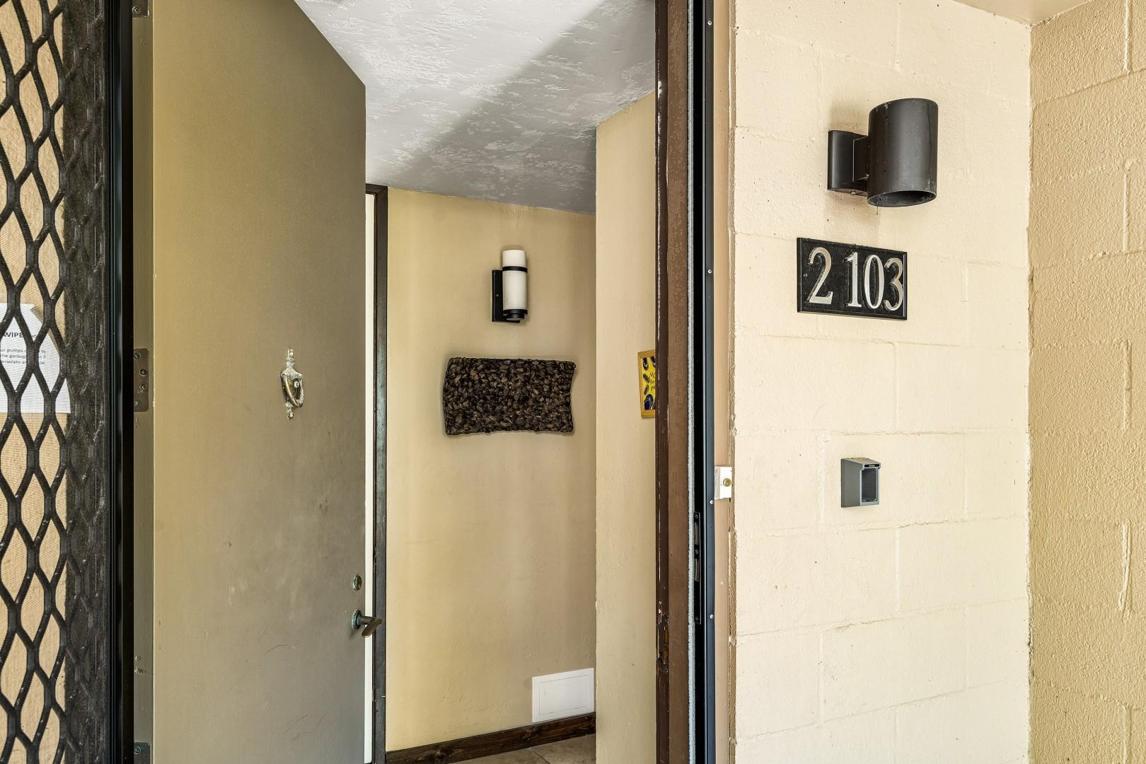 Entry to the condo on the ground floor