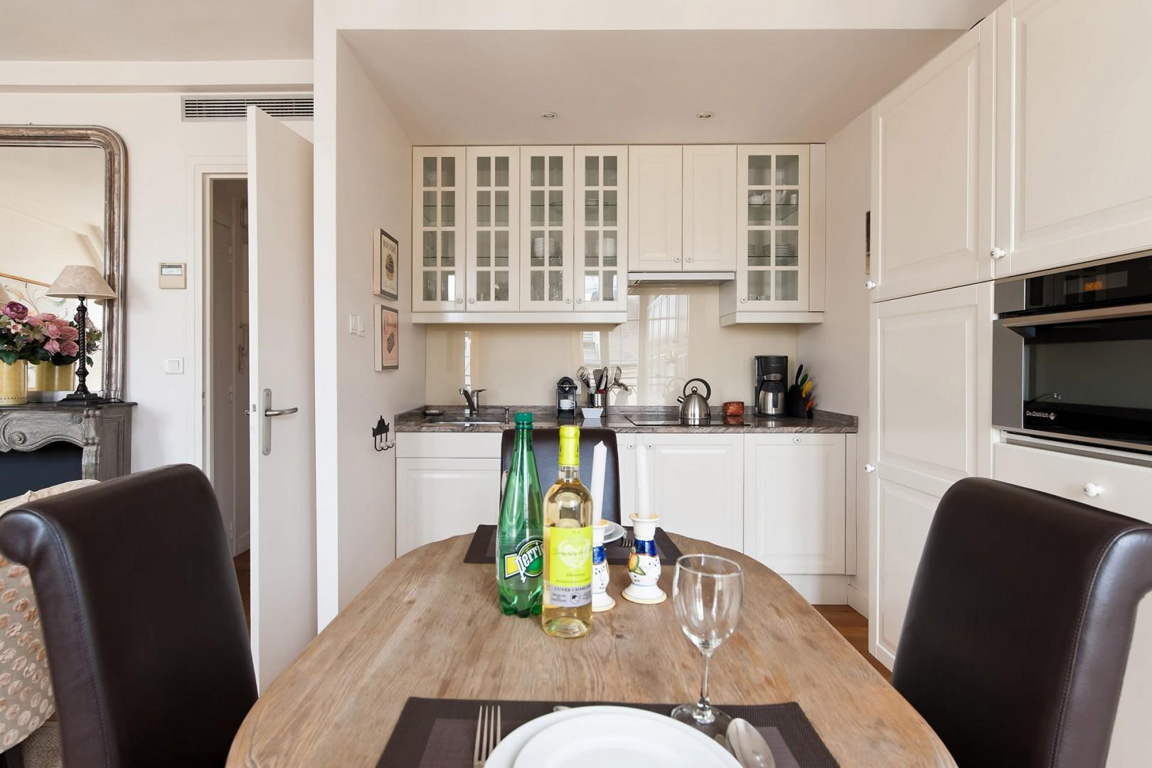 You'll love having your own kitchen and dining area!