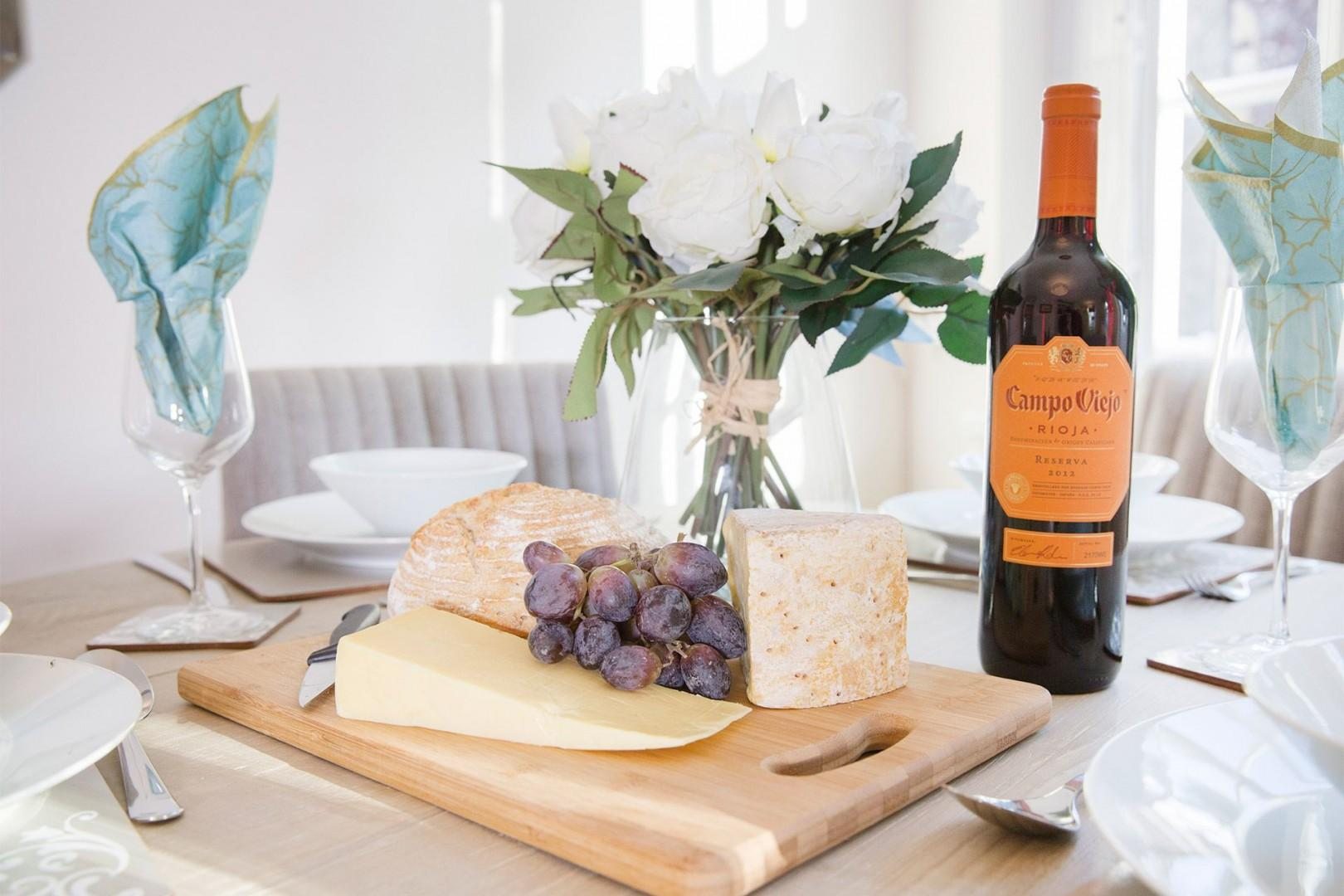 Enjoy some local cheeses and a good bottle of wine