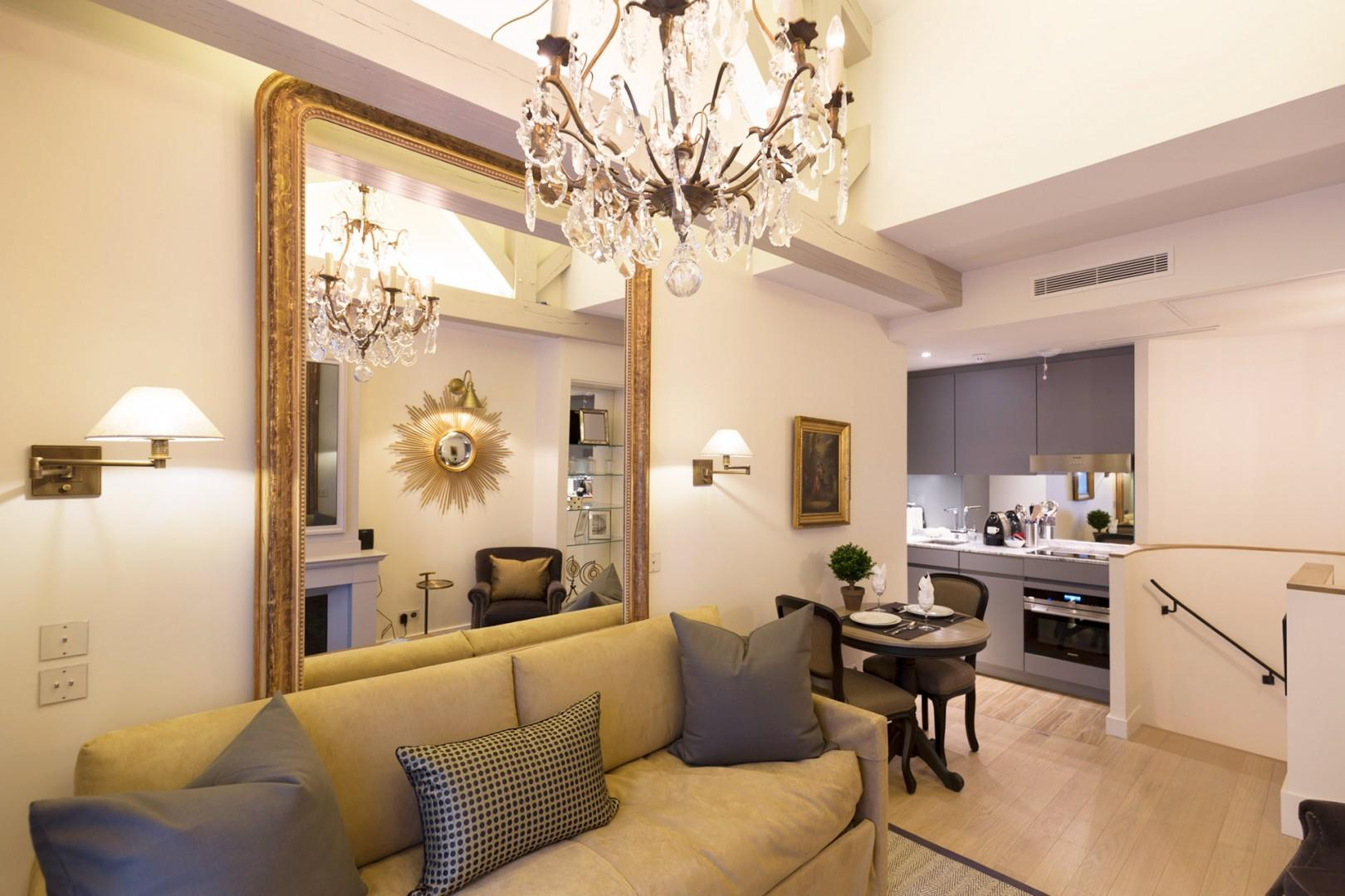 The open-plan living and dining area is great for entertaining.