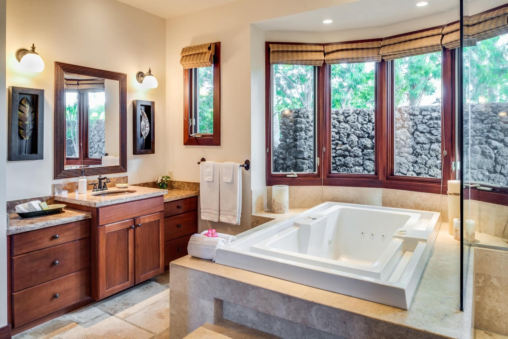 Master Bath w/ Luxurious Jetted Tub & Dual Vanity Sinks