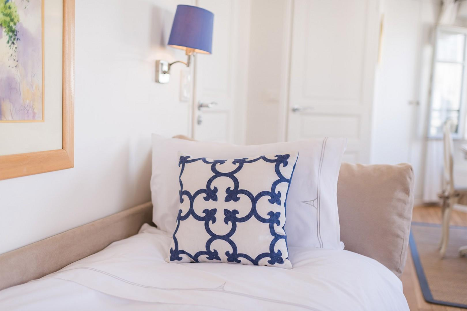 Sink into the luxurious linens for a good night's sleep.