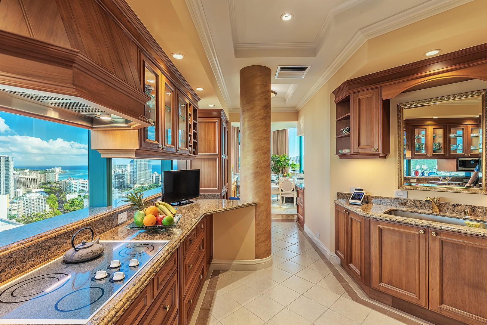 Top of the line Chef Kitchen with Stunning Views