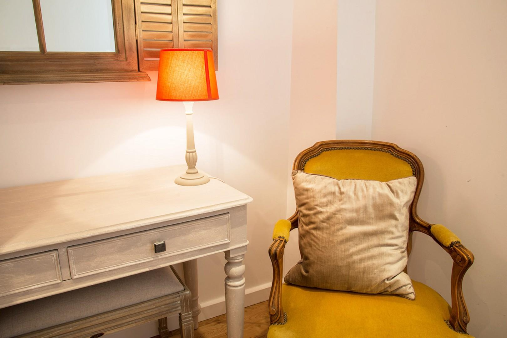 Reading area in bedroom 3 is a great place to relax.