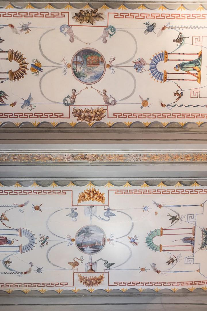You may recognize the style as echoing ancient roman designs.