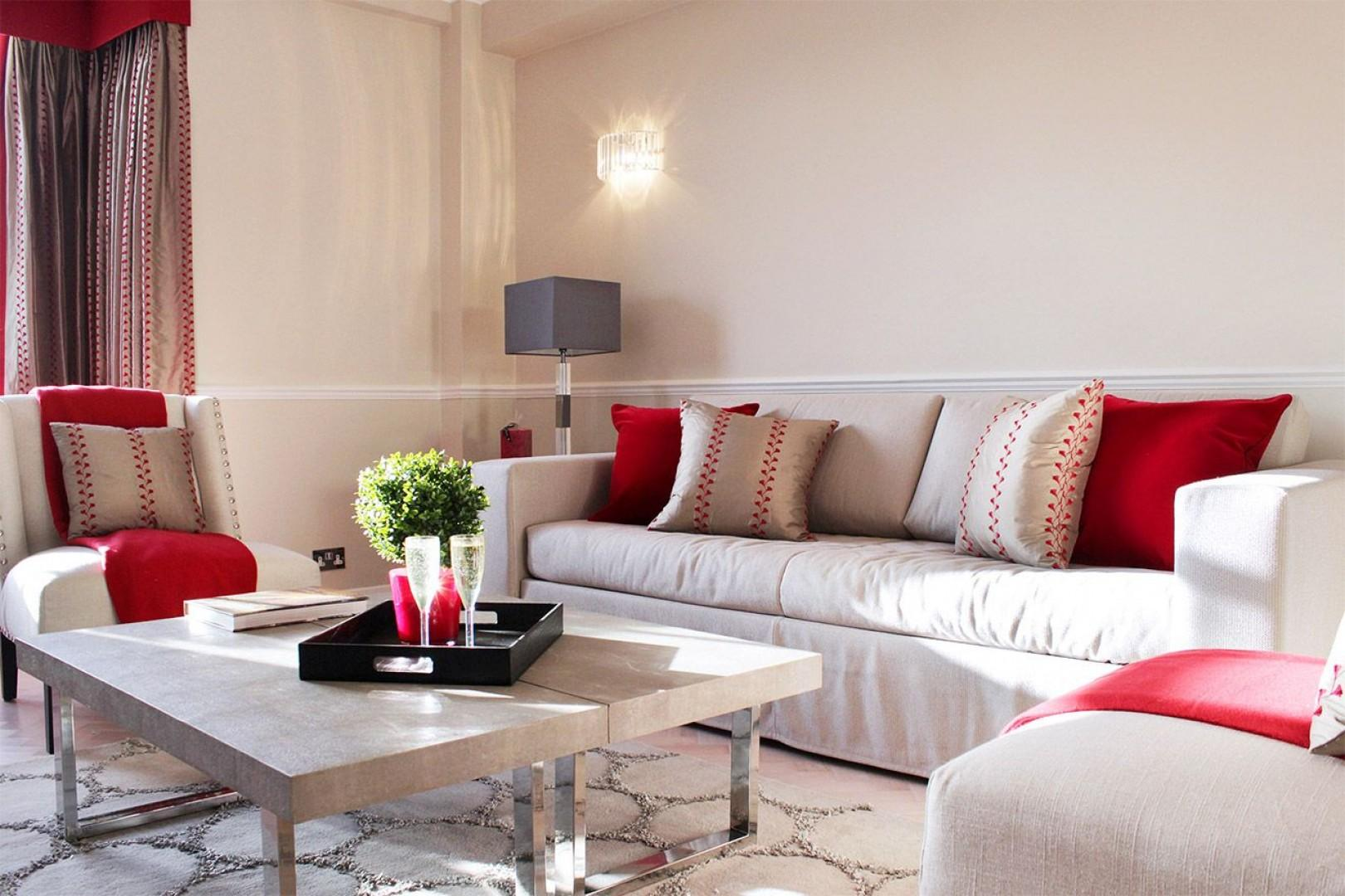 Relax in the comfortable seating area