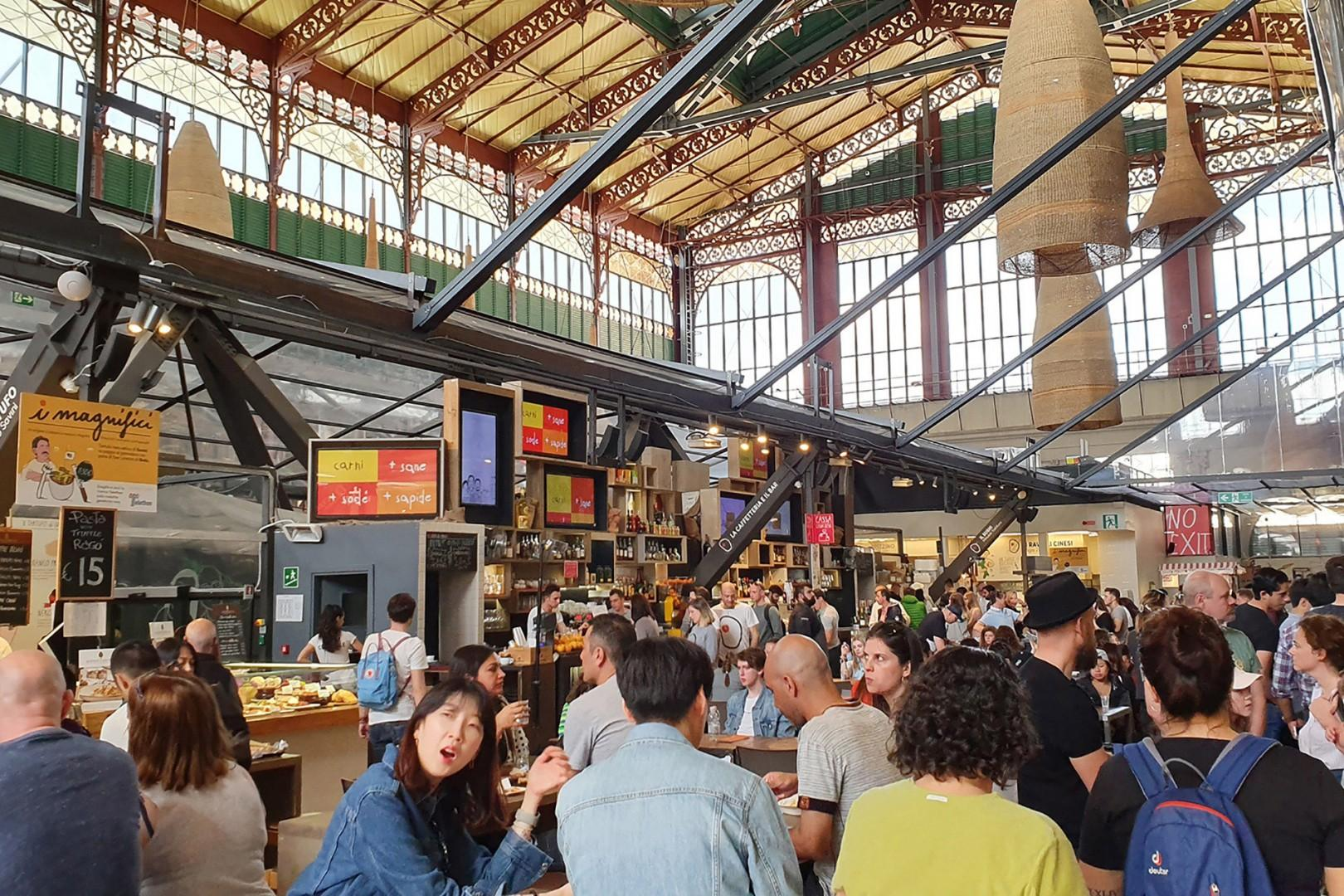 On the upper floor of the Mercato Centrale is a great food court.