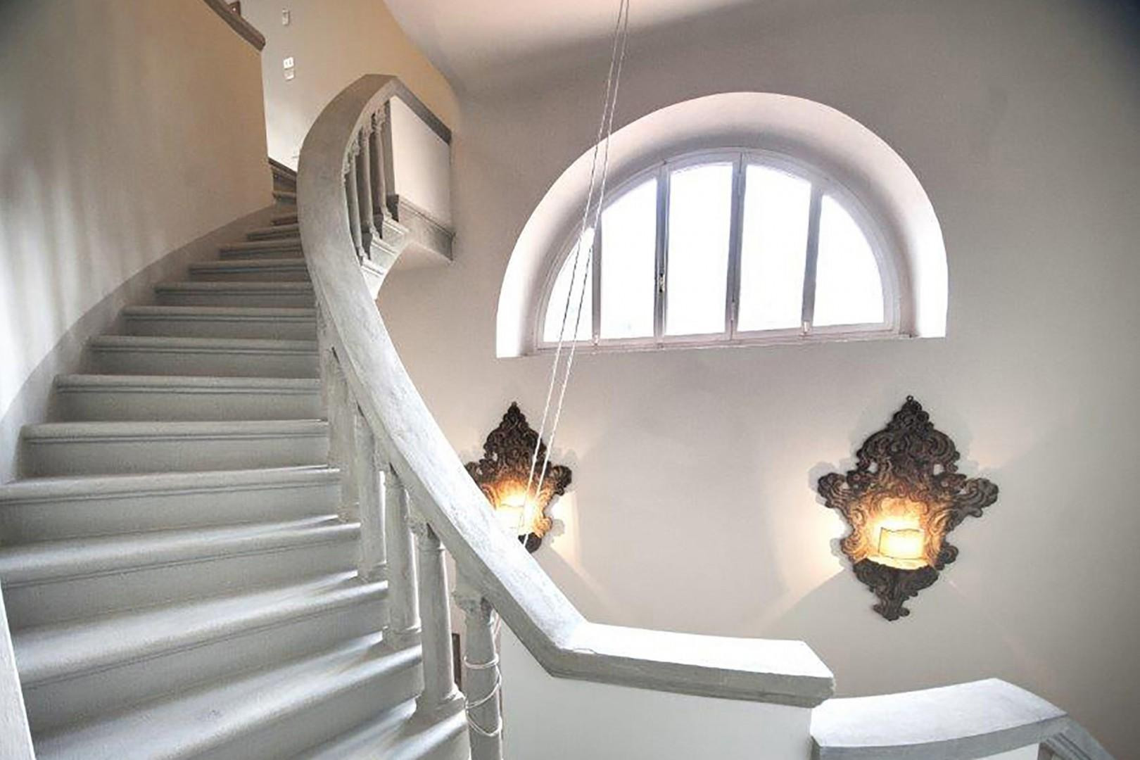 Beautiful curved staircase.