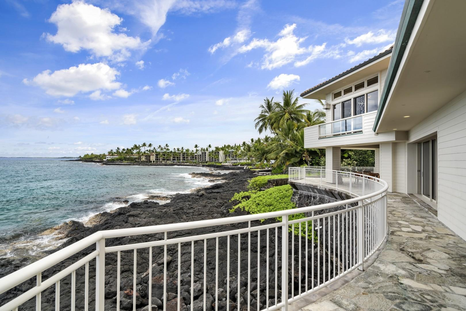 Large ocean frontage allows for multiple vantage points to take in the ocean activity!