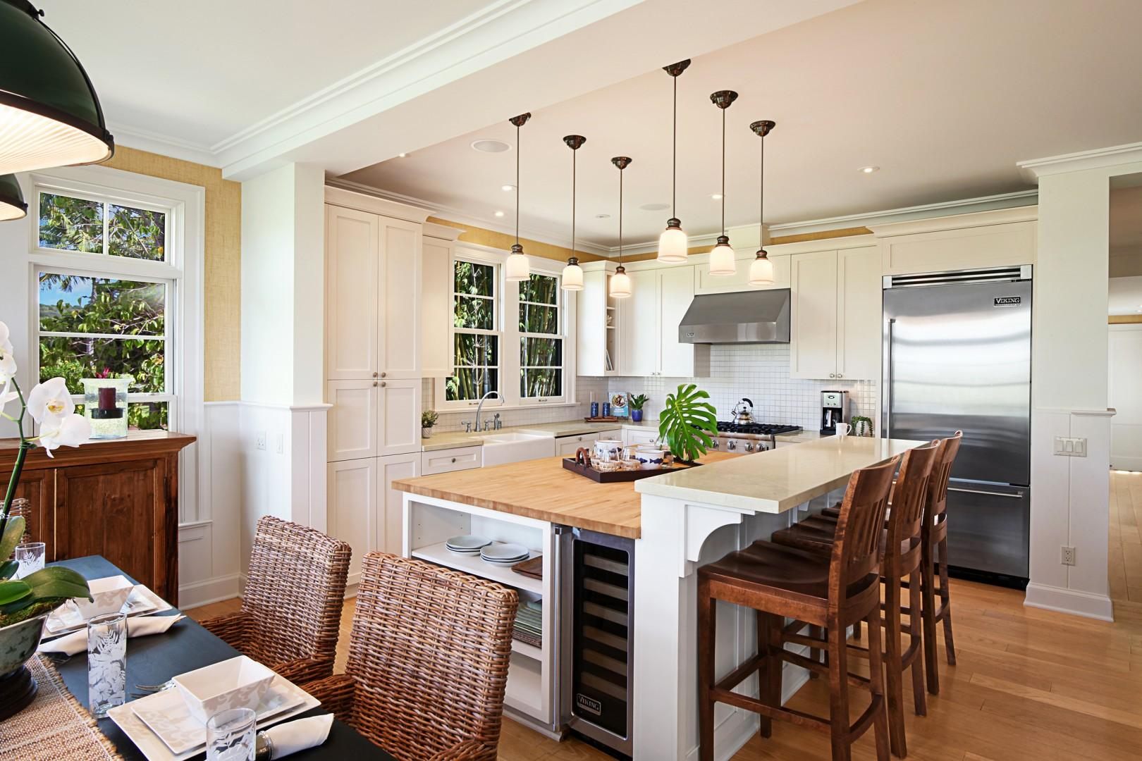 Well appointed kitchen with high-end appliances