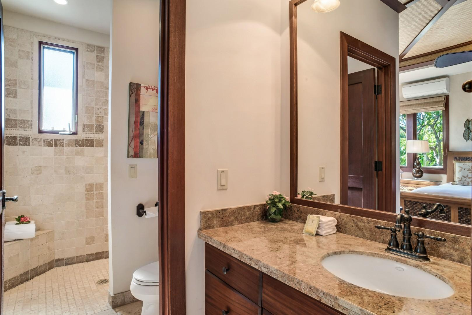 Guest Suite 2 Bath w/ Travertine Shower