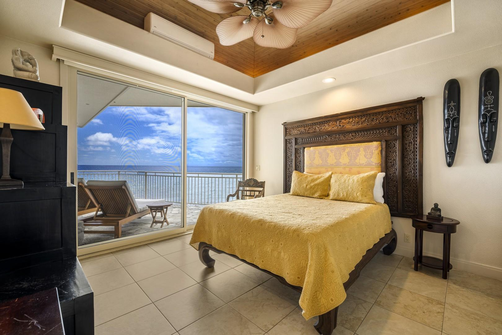 Guest bedroom equipped with King bed & A/C