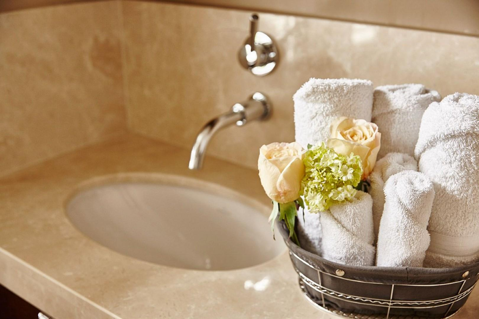 Fresh towels await your stay