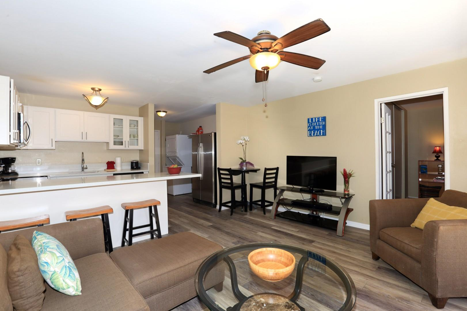 Open floor plan with washer & dryer and much more-min