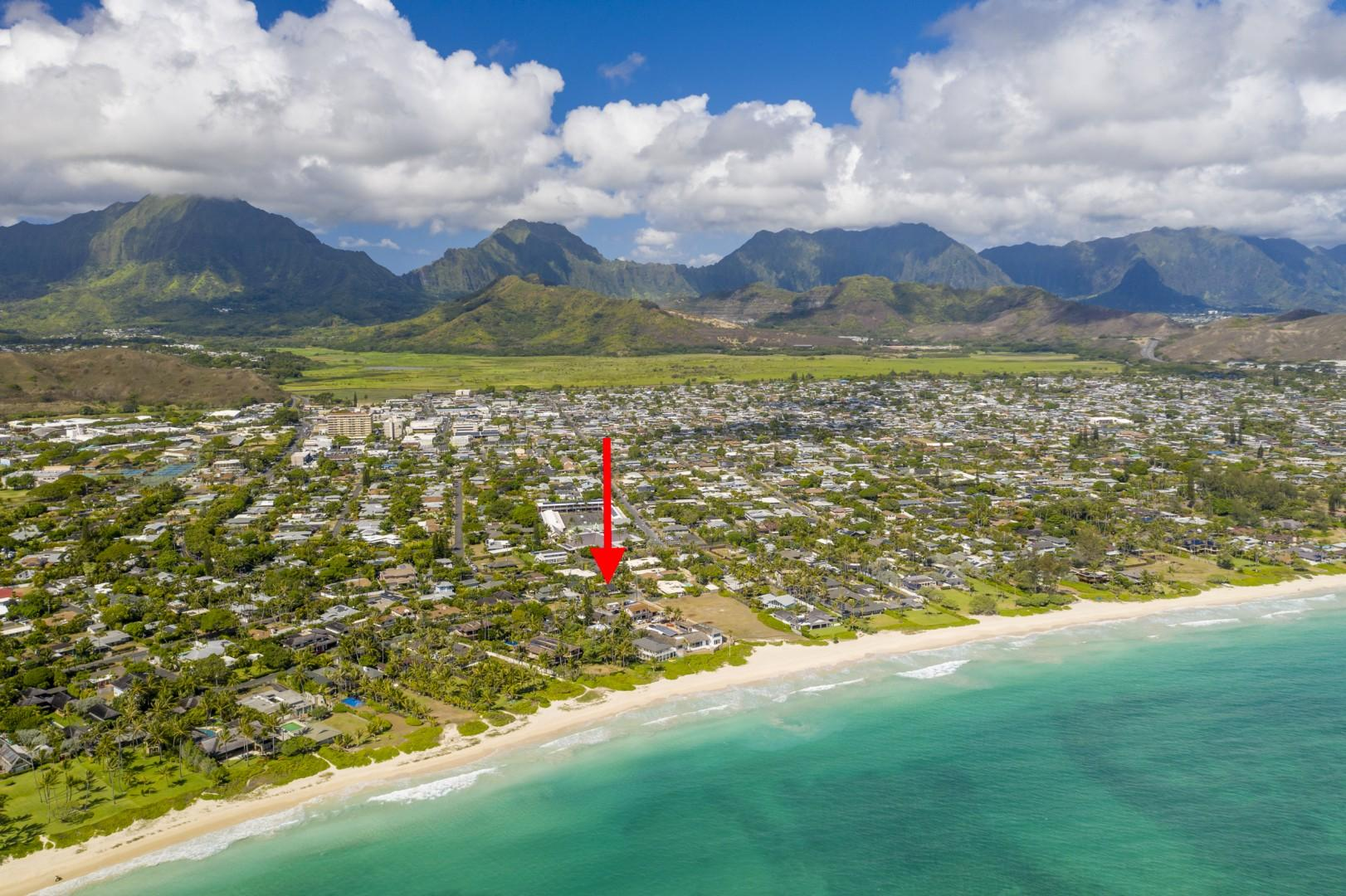 Property is just steps away from Kailua Beach